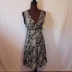 Nwt style and co. Dress medium floral animal print